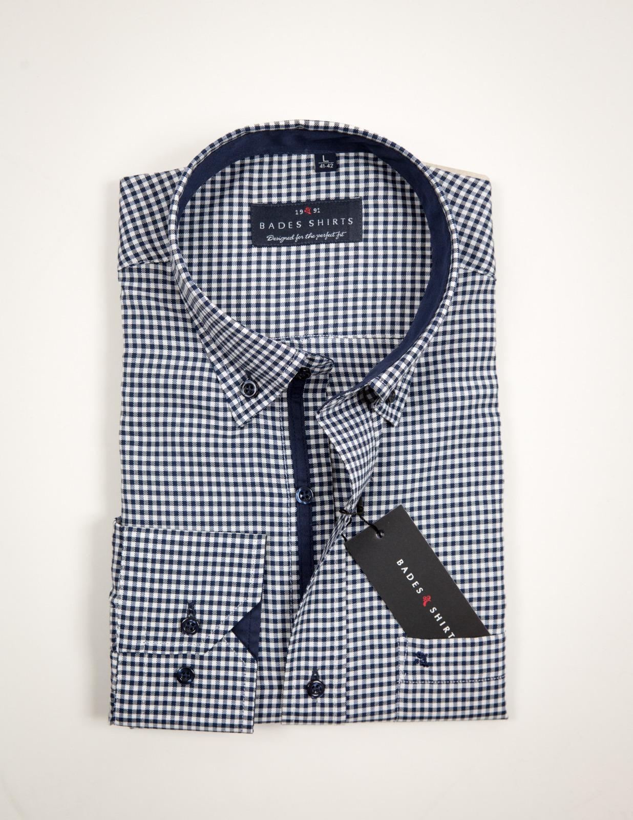 Άσπρο - Μπλε Καρό Πουκάμισο Bades Shirts - AlterEgo 9db63d08e50